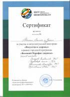 Сертификат команды ФИТ ТГУ