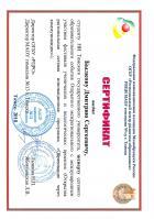 Сертификат Былкова Дмитрия
