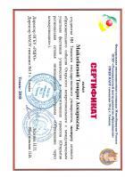 Сертификат Майлейбаевой Томирис