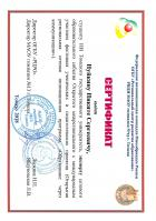 Сертификат Нуйкина Никиты